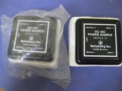 Reliability Inc  Model 3A5r15 15 Dc Dc Power Source Module  New  Lot Of 2