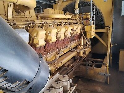Qty 2 Cat Caterpillar 1750 Kw Generator Genset 3516 Diesel Engine 1500kw 1000kw