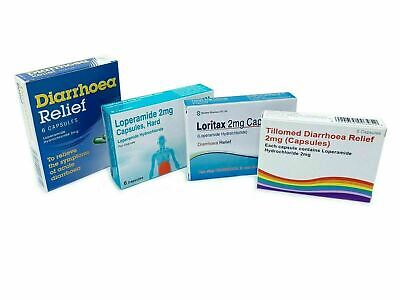 30 60 120 Diarrhoea Relief LOPERAMIDE HYDROCHLORIDE 2mg IBS Stomach Capsules