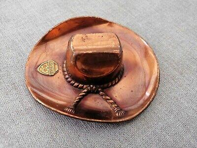 Aschenbecher Ascher Ashtray Las Vegas Kupfer Cowboy Hut Würfel Emblem cool rar