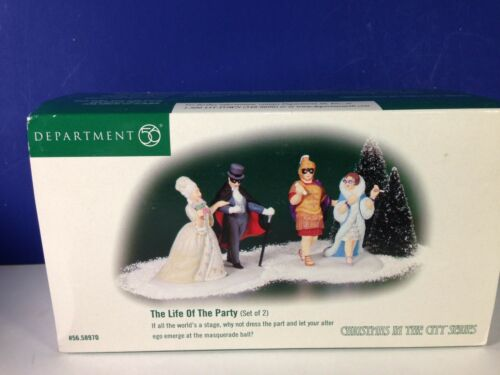 Dept 56 CIC Christmas in the City THE LIFE OF THE PARTY Set of 2 56.58970 New!