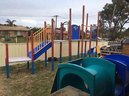 Large Children's playground climbing frame