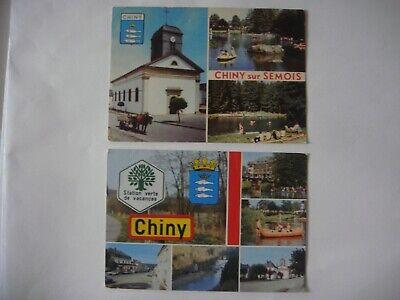 Lot de 2 cartes de CHINY SUR SEMOIS ( Kayak )