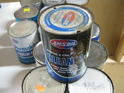 VINTAGE OIL CAN COLLECTION SELL OUT FREE SHIPPING Amsoil