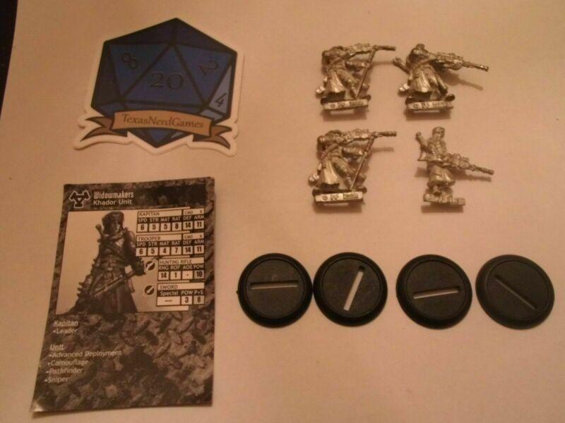 x4 Khador Widowmaker Scouts Warmachine TexasNerdGames