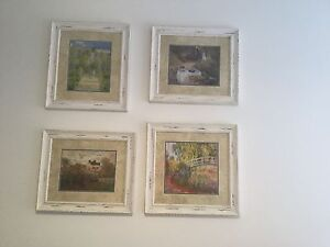 4 Monets garden prints in shabby chic frames Gymea Bay Sutherland Area Preview