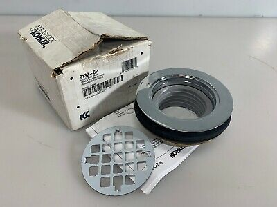 KOHLER K-9132-CP Shower Drain w/Grid Strainer Polishes -