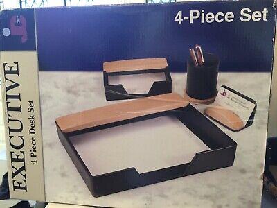 4 Piece Executive Desk Accessory Set