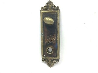 1  VINTAGE RECLAIMED ANTIQUE BRASS DOOR ESCUTCHEON KEYHOLE COVER SHABBY CHIC