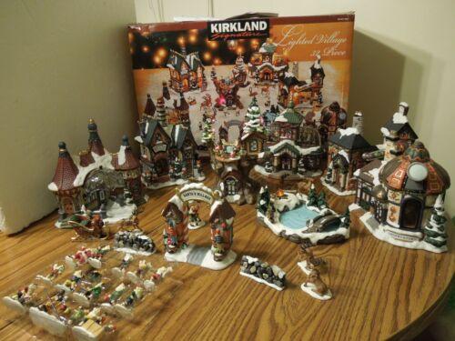 Kirkland 32 piece Porcelain Lighted Village