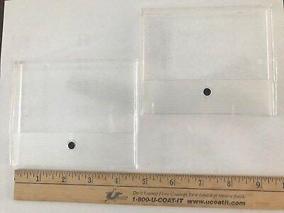 2 - Vintage Volt Amp Meter Gauge Cover Lens Zero Adjust Free S H
