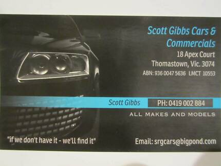Scott Gibbs Cars & Commercials