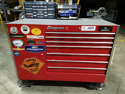 Snap-on Rolling Tool Cabinet Box Loaded With Tools Aircraft Mechanic Ap