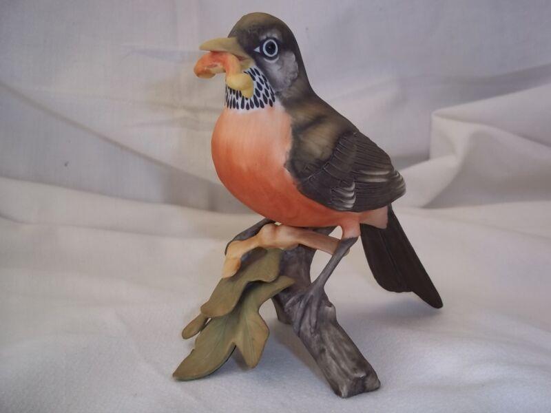 KAISER Porcelain Robin on Branch w/worm HP Bisque Ltd. Ed. #126/2000 EXQUISITE
