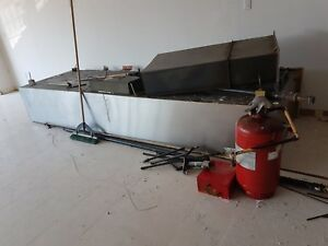 sale -Restaurant exhaust hood  stainless steel with fire system