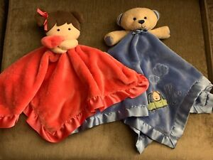 2 Carter's Baby Blanket Snuggle Toys