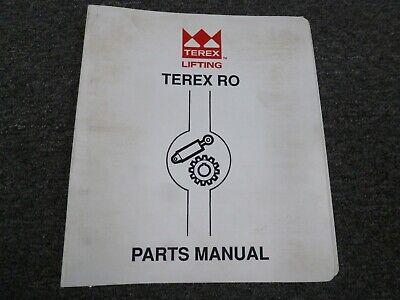 Terex Simon Ro Tc145 Boom Lifting Truck Crane Parts Catalog Manual