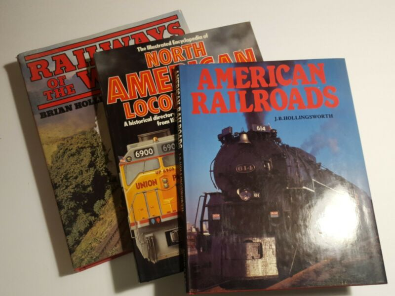 Railroad book LOT Railways of the world, North American Locomotives, American Ra