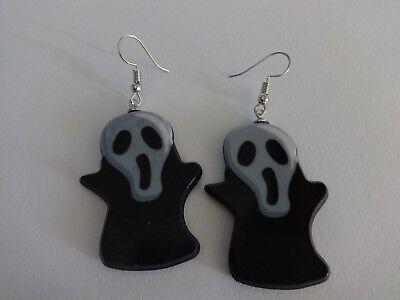1 Paar Skull Halloween Ghost Skelett Skeleton Hänger Ohrstecker Party 5 x 3 cm - Halloween Paar