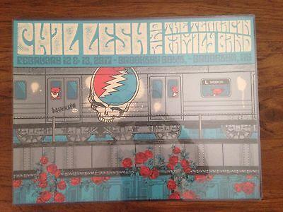 Phil Lesh Brooklyn Bowl, NY 2017 Art Print Poster Status Serigraph Signed AE