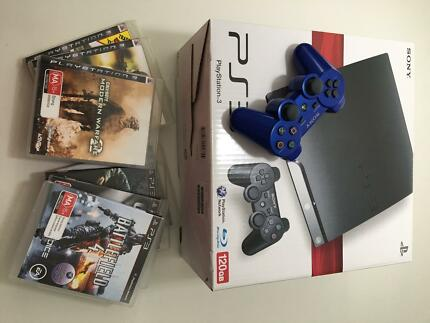 Sony 120GB PlayStation 3 + 7 games + extra controller