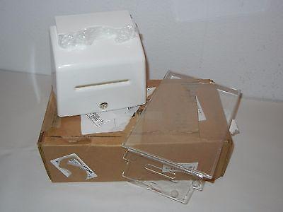 Azar 206776 Locking Small Molded Suggestion Box White 2-keys