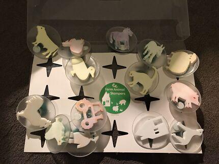 Children's educational stamps - art craft toys teachers - farm animals