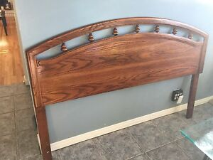 Queen or Double Oak Headboard
