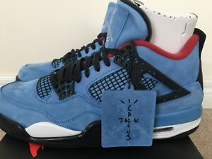 DS AIR JORDAN 4 RETRO Travis Scott Cactus Jack size 10