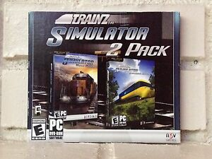 trainz train simulator 2-pack --- 2 computer games --- new