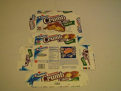 Hostess  Interstate Brands  Low Fat Crumb Cakes Empty Collectible Box