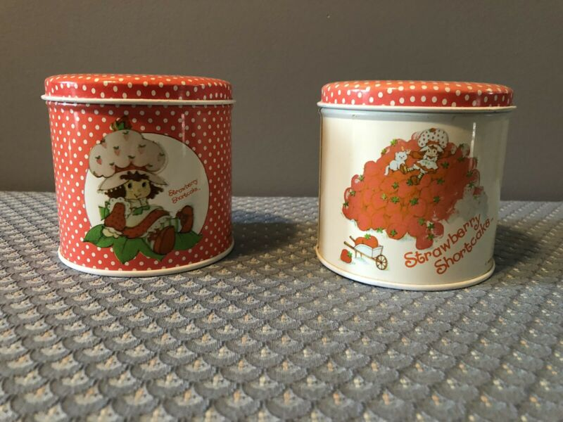 Vintage Strawberry Shortcake Tins Lot of 2 1980