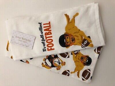 New Isaac Mizrahi New York 2 Bulldog Terrier Retriever Football Kitchen Towels