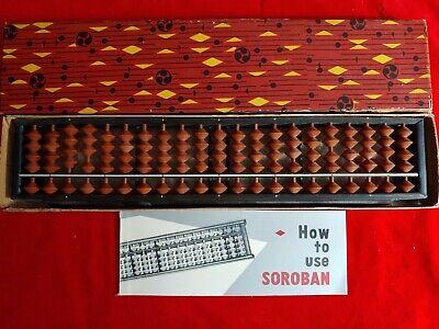 Vintage Soroban Tomoe Brand 21 Column Abacus