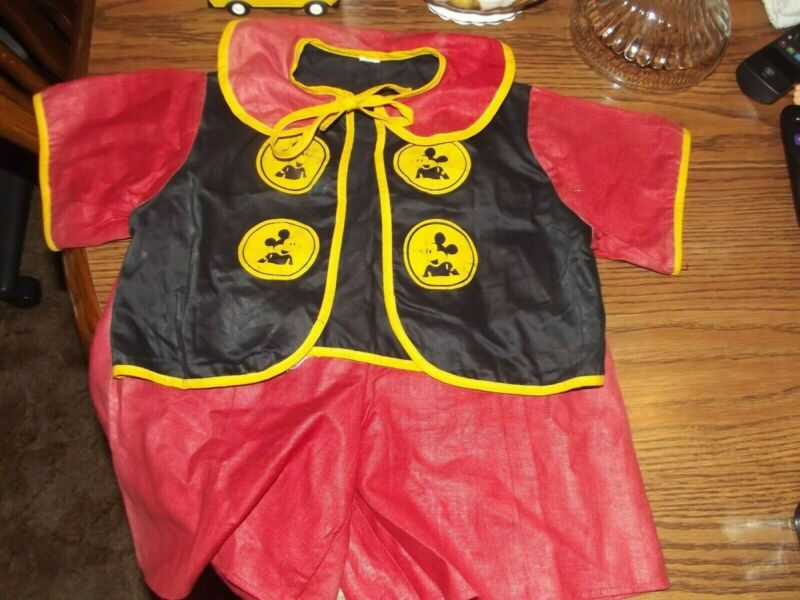 Vintage Mickey Mouse Kids Outfit with Tail Shorts and Top