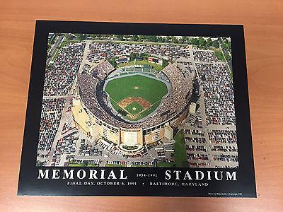 LAST GAME AT MEMORIAL STADIUM BALTIMORE ORIOLES 8X10 PHOTO 1991 OCTOBER -