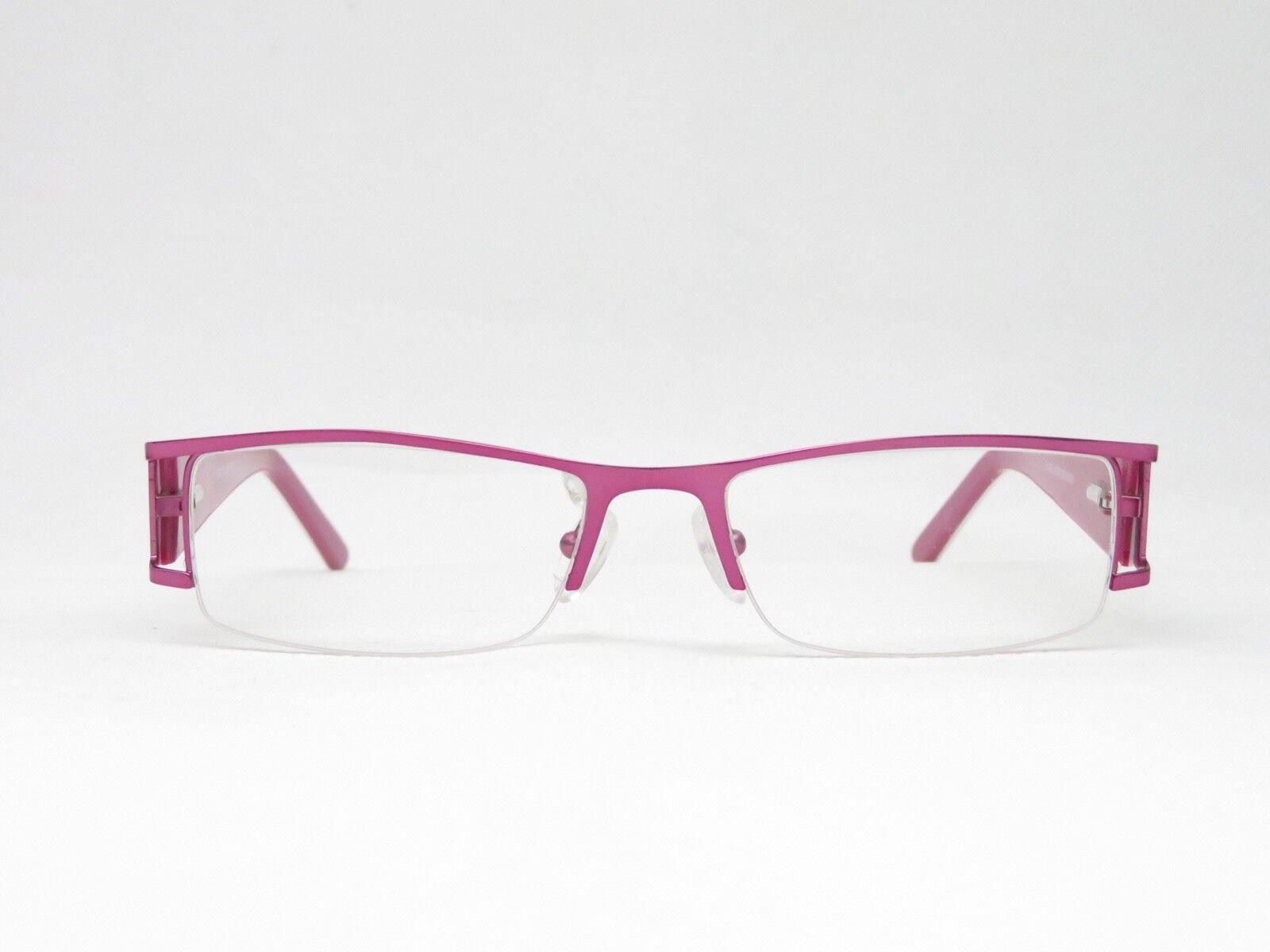Halbrand Brille Damen NEU Brillengestell rechteckig NYLOR pink schmetterling