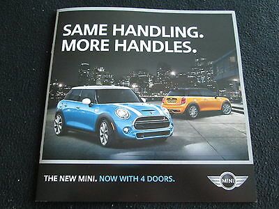 2015 MINI Cooper & S Brochure New 4-door & Original 2-door Sales Catalog BMW