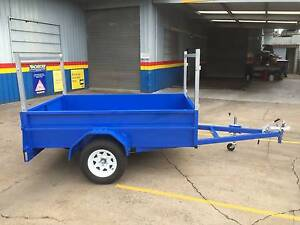 8X5 HEAVY DUTY BOX TRAILER, HIGH SIDES , RACKS MOWING, TRADESMAN Thorneside Redland Area Preview