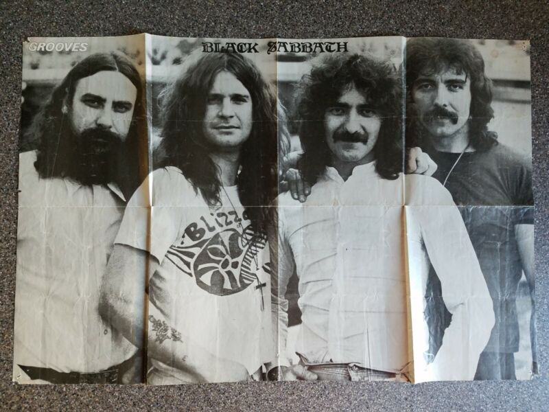 Vintage GROOVES 2 Sided Poster Black Sabbath Billy Joel