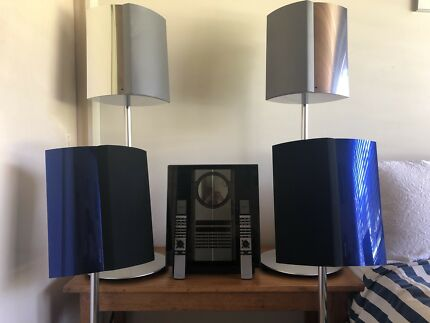 Bang olufsen beolab 5 speaker pair fully working speakers bangolufsen beosound 3200 player two pairs of beolab 4000 speakers fandeluxe Images