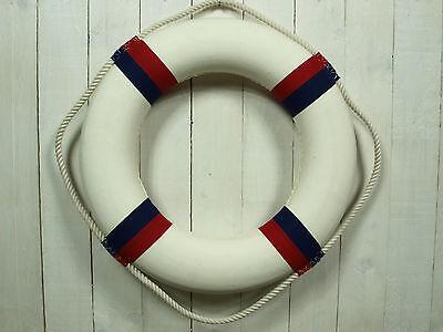 Deko Rettungsring 50 cm blau/rot/weiß für die maritime Dekoration