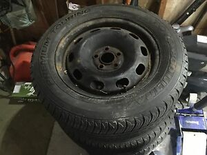 205/60/15 Toyo ultra winter tires m+s rated like new 5x100 rims