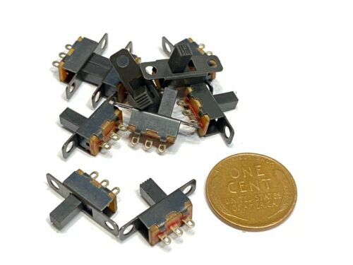 10 Pieces SS12F15G6 ON/off 2 Position 1P2T SPDT Panel Mini Slide Switch C12