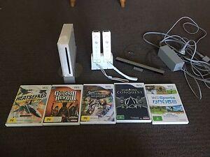 Wii set plus 5 games Mawson Lakes Salisbury Area Preview