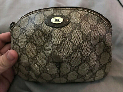 Vintage Gucci Cosmetics Bag Accessory Collection 89.01.017 w/ Certification Tag