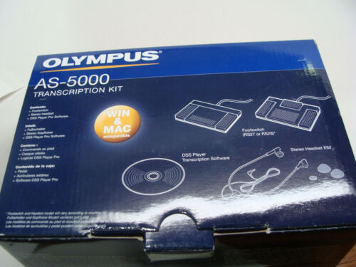 Olympus AS-5000 Transcription Kit RS-27 Foot Switch, Headset E62