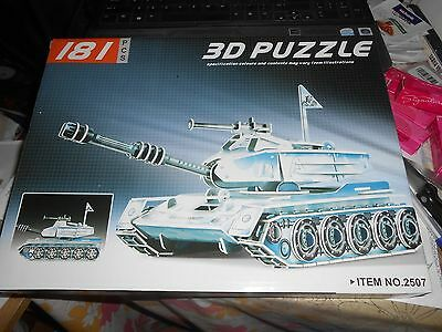 3D Foam Model Tank (  Toy Puzzle )    D.I.Y. Assembly **Free Shipping** - Foam Toy Puzzle Ships
