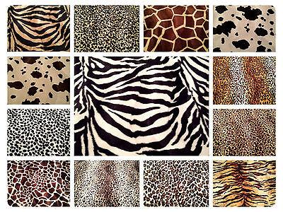 Animal Print Polyester Velboa Fabric Faux Fur Pony Skin 58