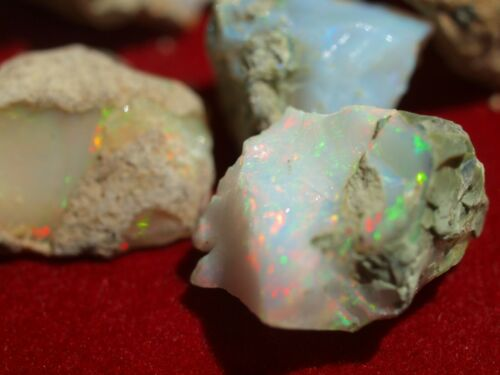 400 Carats AAA Top Gem Grade Ethiopian Welo Opal Rough ALL with Fire and Color